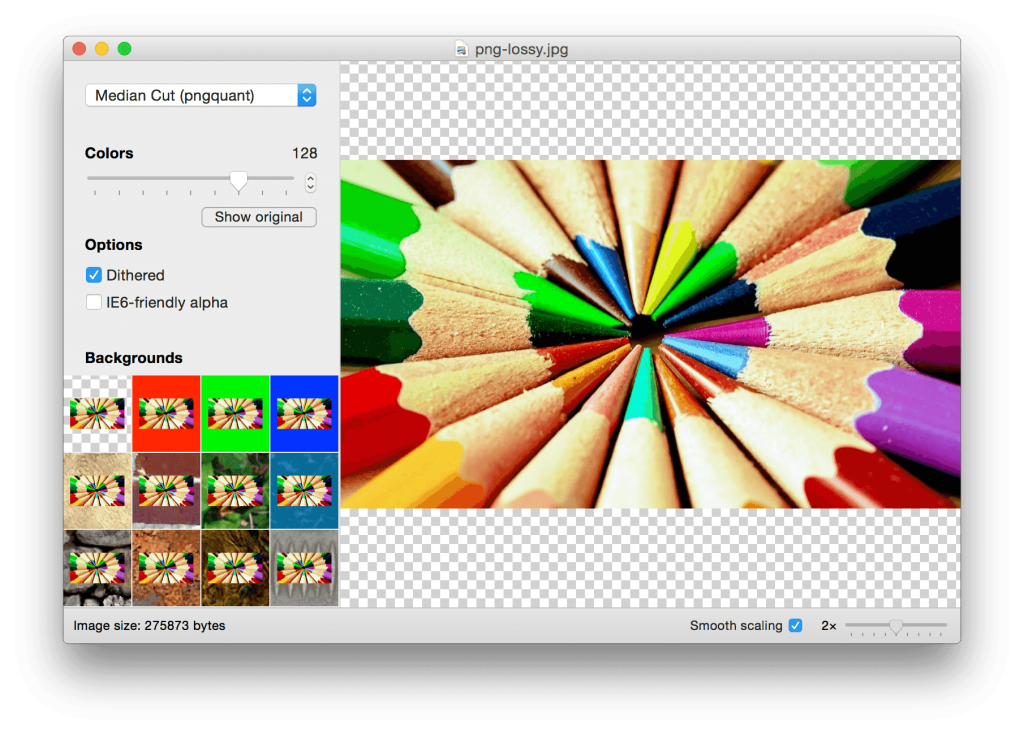 ImageAlpha - PNG optimizer and compressor