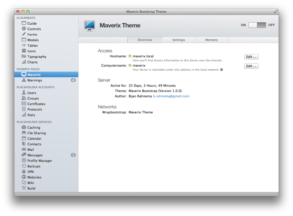 Maverix Mac Boostrap theme