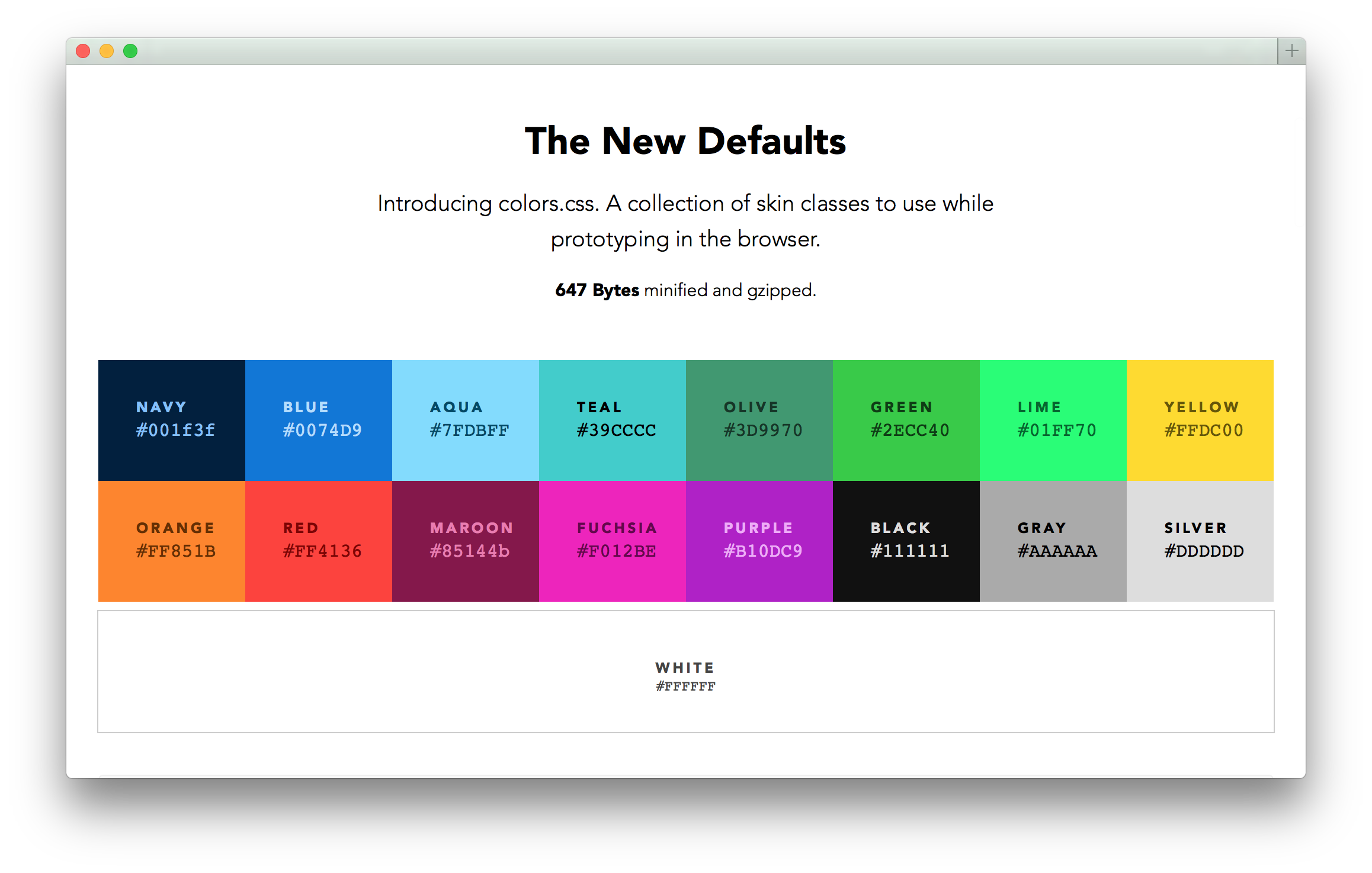 Colors Default Web Palette Replacement