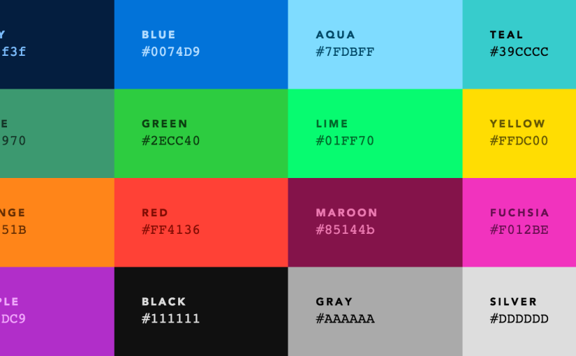Colors — default web palette replacement