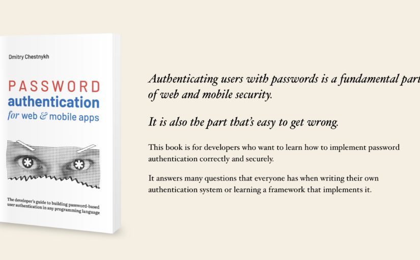Book: Password Authentication for Web and Mobile Apps